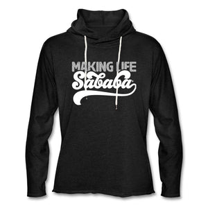 Making Life SABABA® Unisex Lightweight Hoodie - charcoal gray