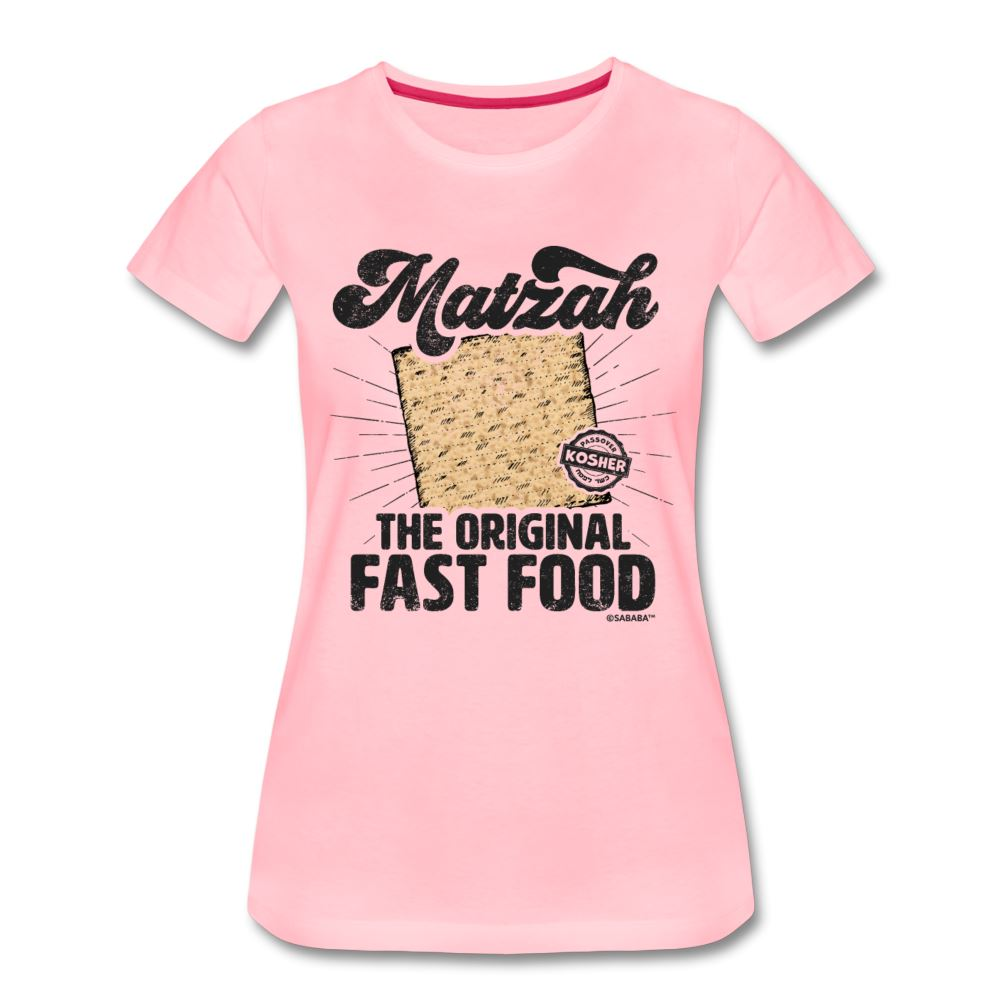 Matzah - The Original Fast Food Women's Premium T-Shirt - pink