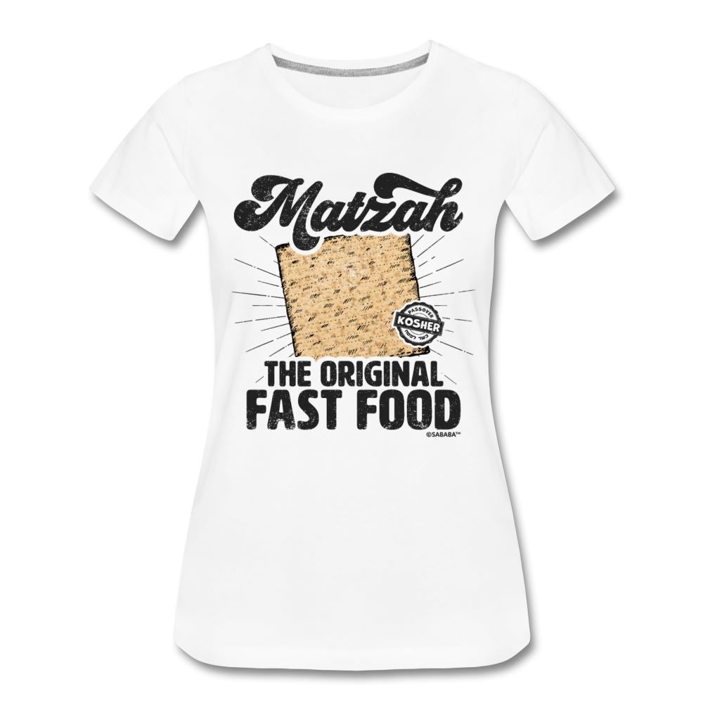 Matzah - The Original Fast Food Women's Premium T-Shirt - white