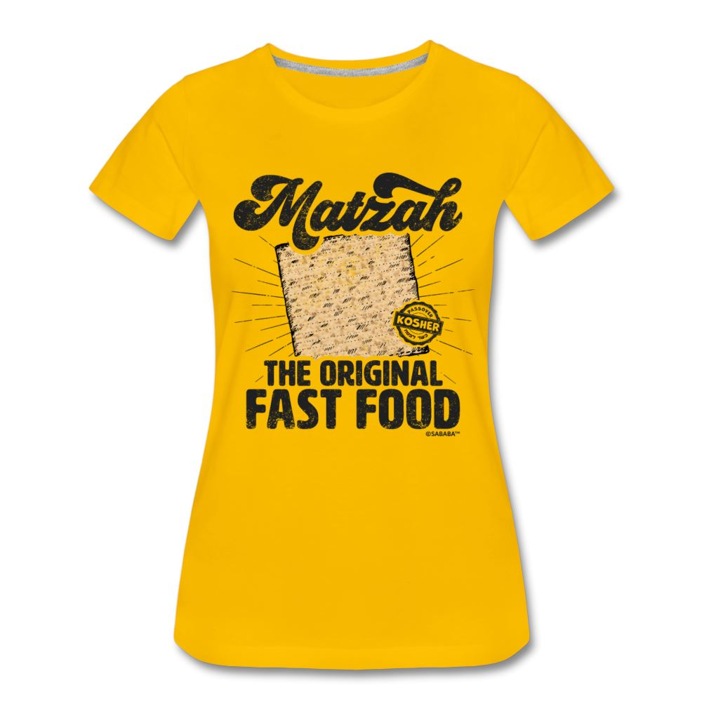 Matzah - The Original Fast Food Women's Premium T-Shirt - sun yellow