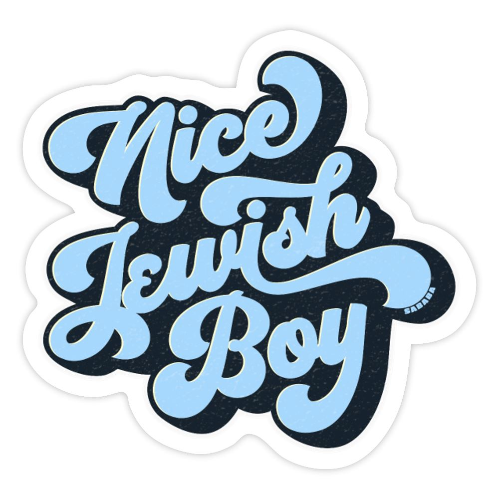 Nice Jewish Boy Sticker - white matte