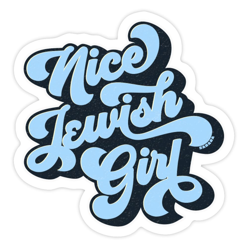 Nice Jewish Girl Sticker - white matte
