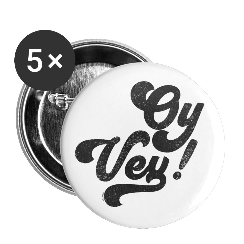 Oy Vey Large Buttons (5 pack) - white
