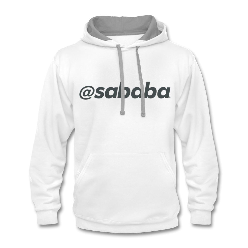 @sababa Contrast Hoodie - white/gray