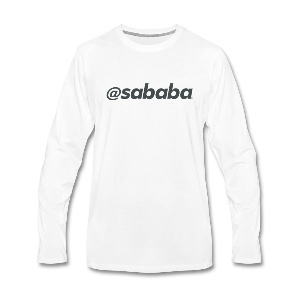 @sababa Men's Premium Long Sleeve T-Shirt - white