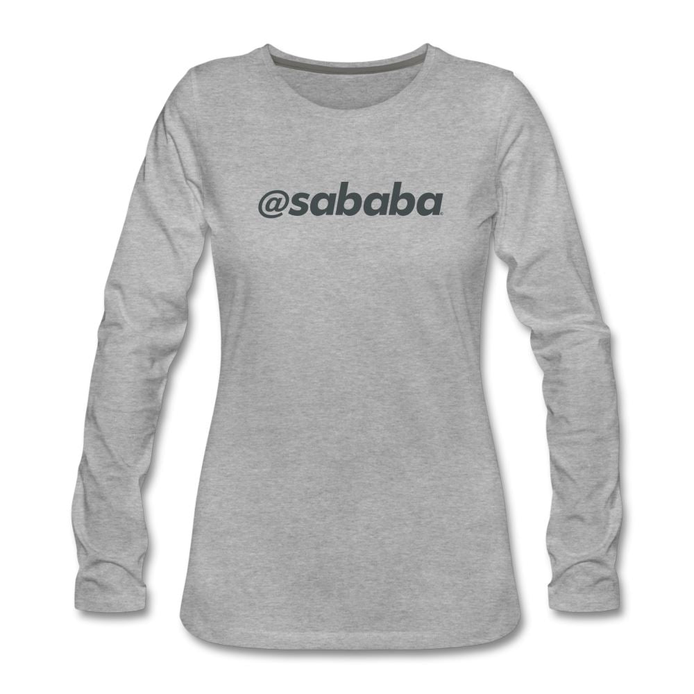 @sababa Women's Premium Long Sleeve T-Shirt - heather gray