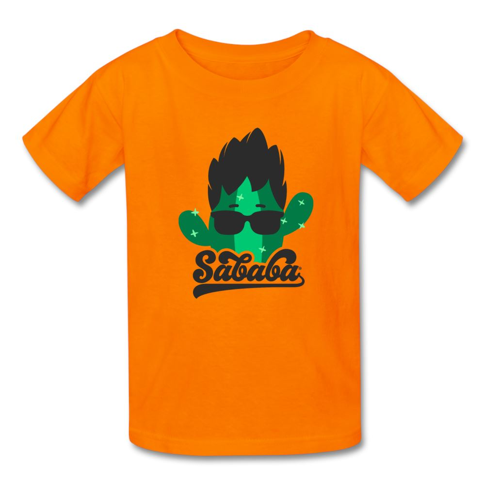 SABABA® Cactus Logo Kids' T-Shirt - orange