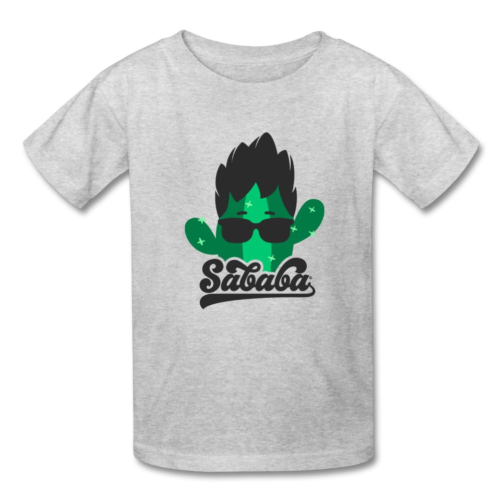 SABABA® Cactus Logo Kids' T-Shirt - heather gray