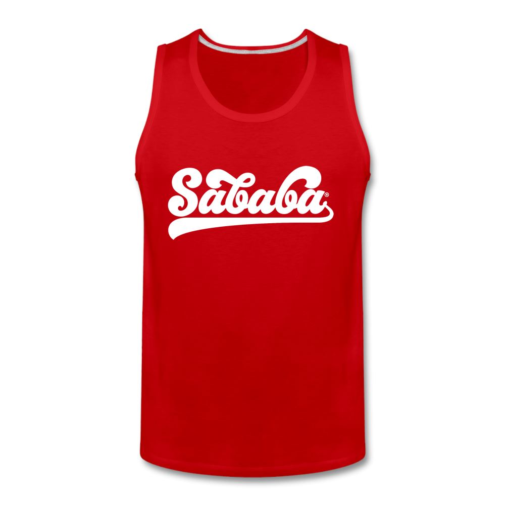 SABABA® Logo Men's Premium Tank - red
