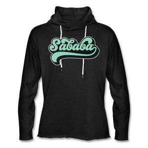 SABABA® Retro Unisex Lightweight Terry Hoodie - charcoal gray