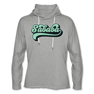 SABABA® Retro Unisex Lightweight Terry Hoodie - heather gray