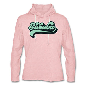 SABABA® Retro Unisex Lightweight Terry Hoodie - cream heather pink