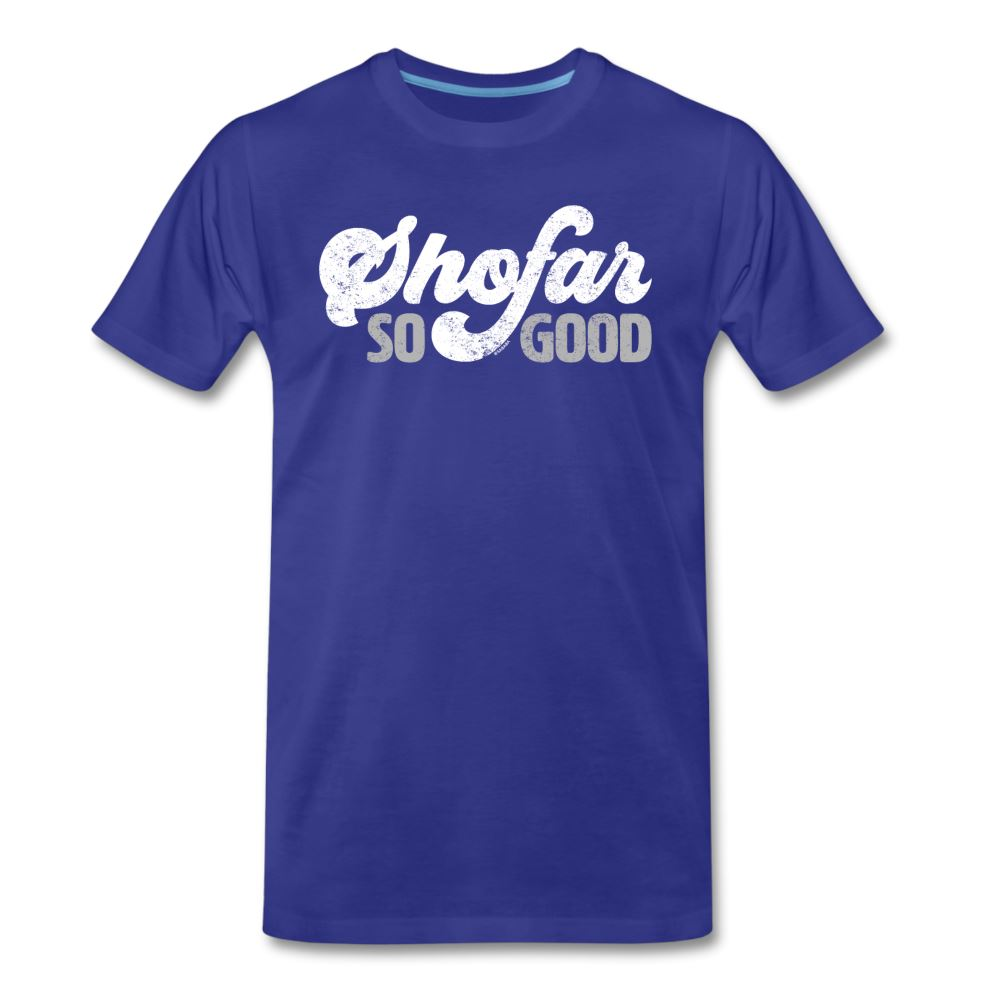 Shofar So Good Men's Premium T-Shirt - royal blue