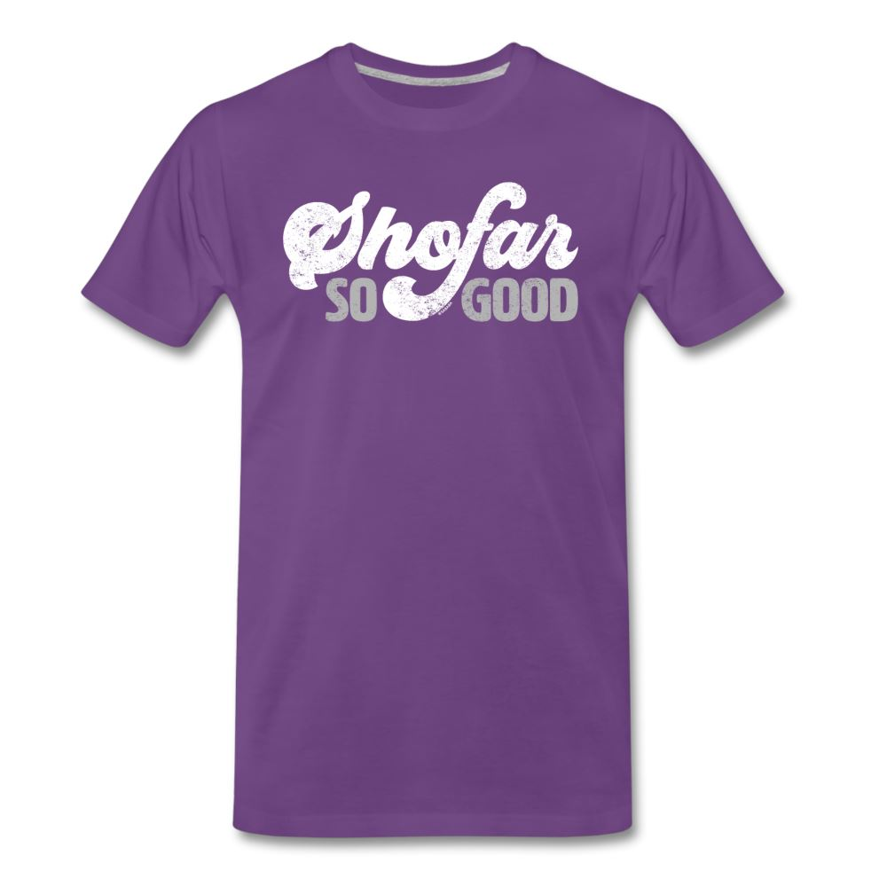 Shofar So Good Men's Premium T-Shirt - purple