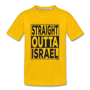 Straight Outta Israel Kids' Premium T-Shirt - sun yellow