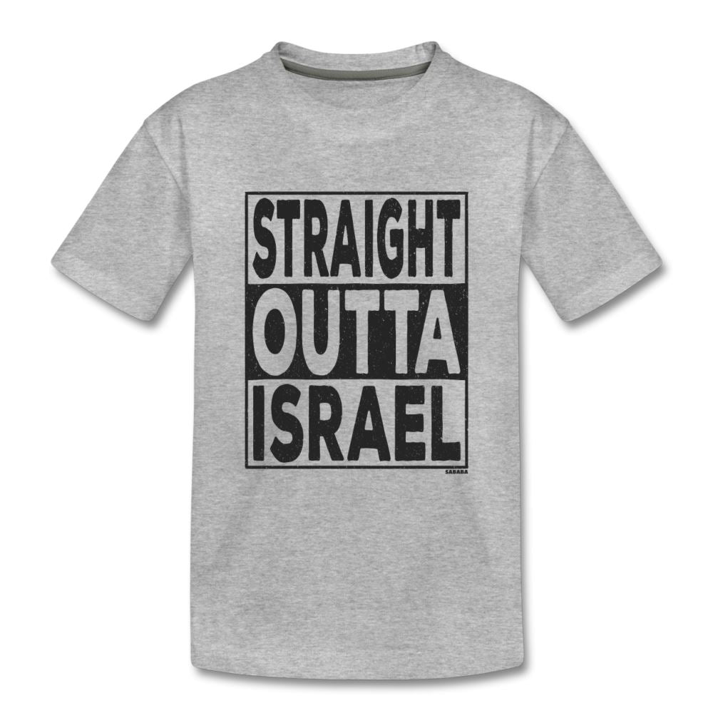 Straight Outta Israel Kids' Premium T-Shirt - heather gray
