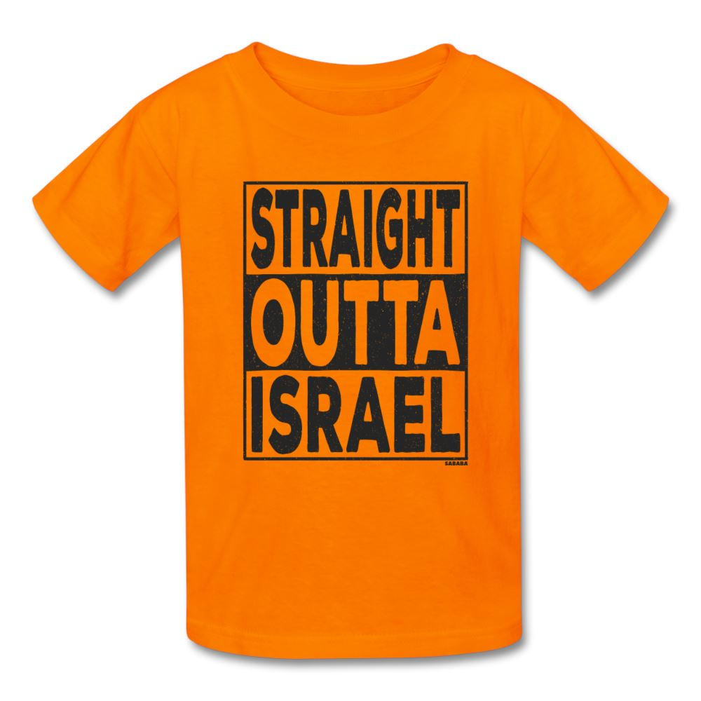 Straight Outta Israel Kids' T-Shirt - orange