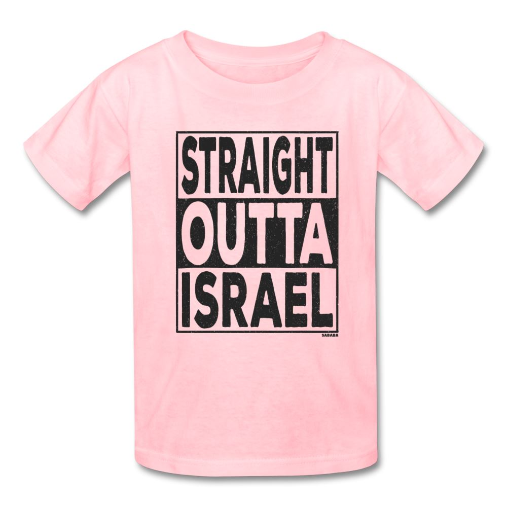 Straight Outta Israel Kids' T-Shirt - pink