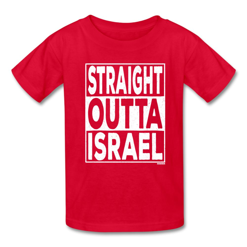 Straight Outta Israel Kids' T-Shirt - red