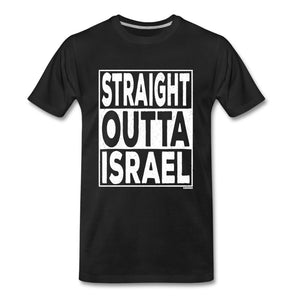 Straight Outta Israel Men's Premium T-Shirt - black
