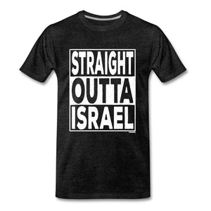 Straight Outta Israel Men's Premium T-Shirt - charcoal gray