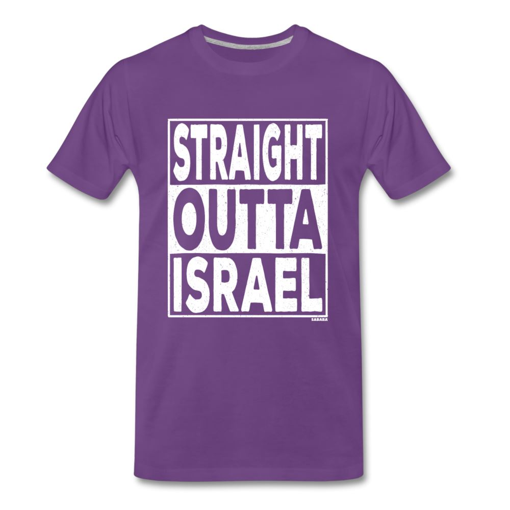 Straight Outta Israel Men's Premium T-Shirt - purple