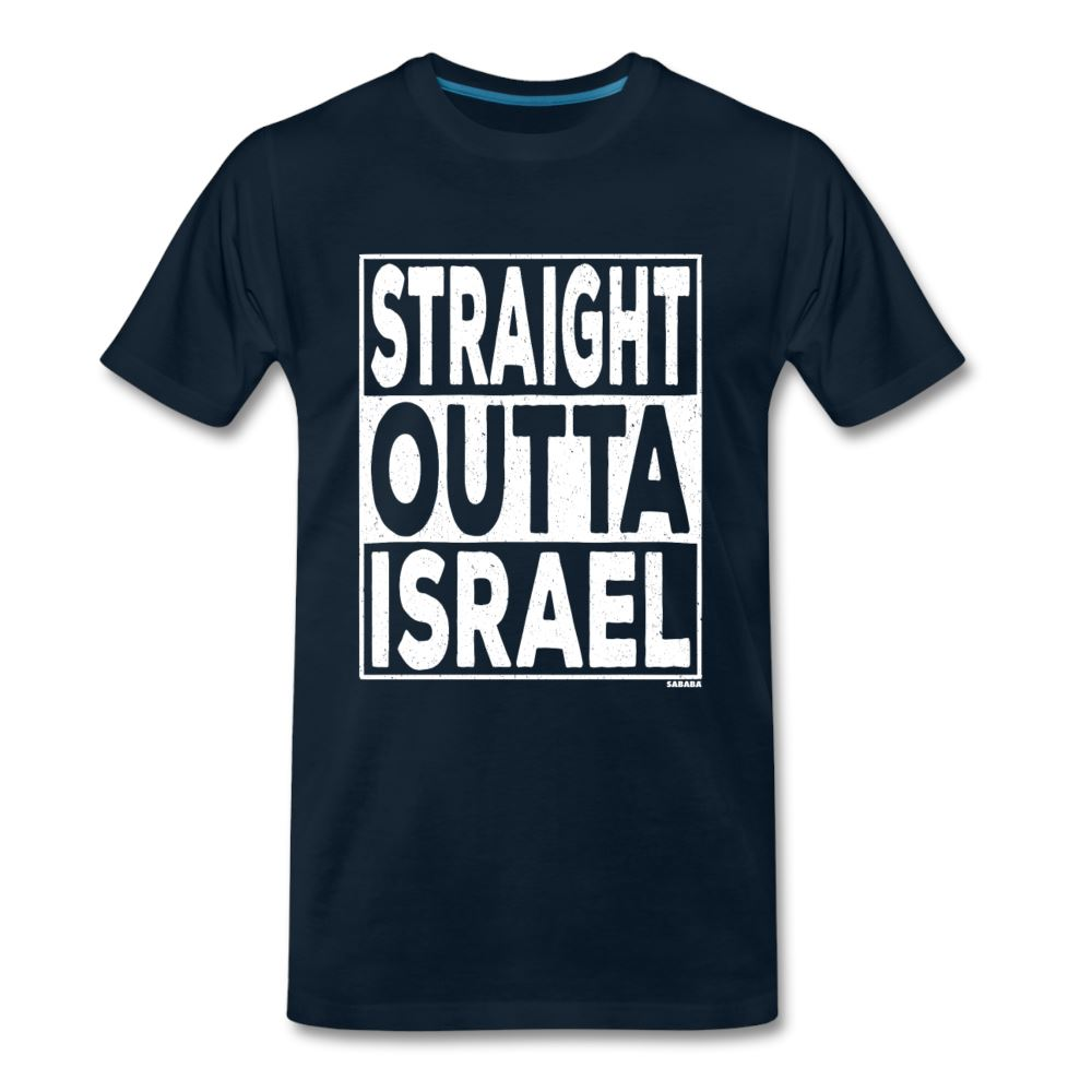 Straight Outta Israel Men's Premium T-Shirt - deep navy