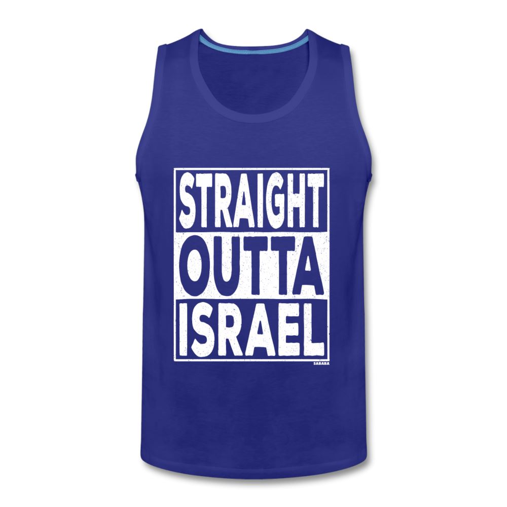 Straight Outta Israel Men's Tank - royal blue