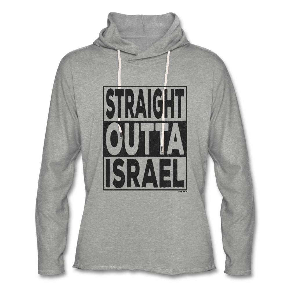 Straight Outta Israel Unisex Hoodie - heather gray