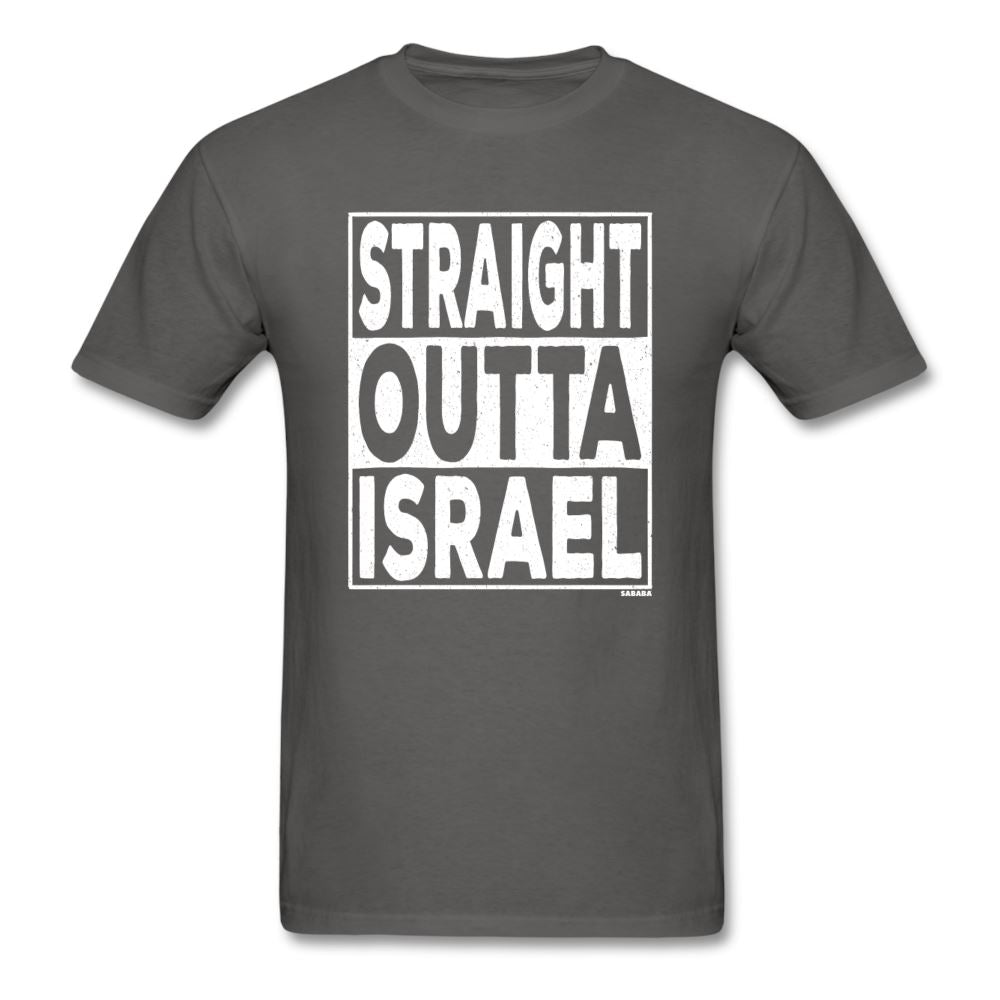Straight Outta Israel Unisex T-Shirt - charcoal