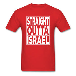 Straight Outta Israel Unisex T-Shirt - red