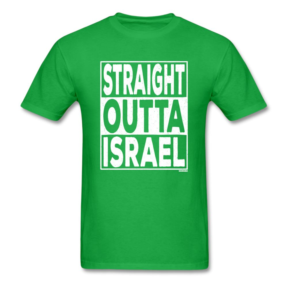 Straight Outta Israel Unisex T-Shirt - bright green
