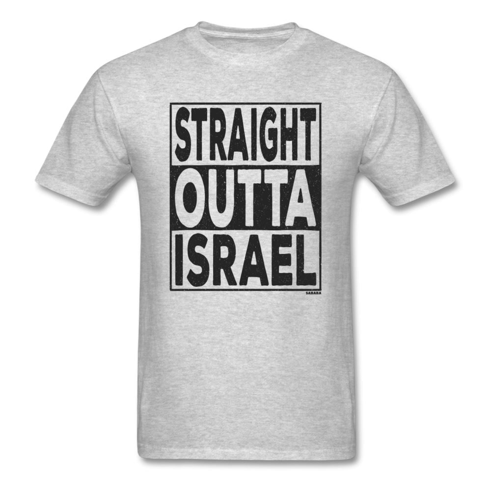 Straight Outta Israel Unisex T-Shirt - heather gray
