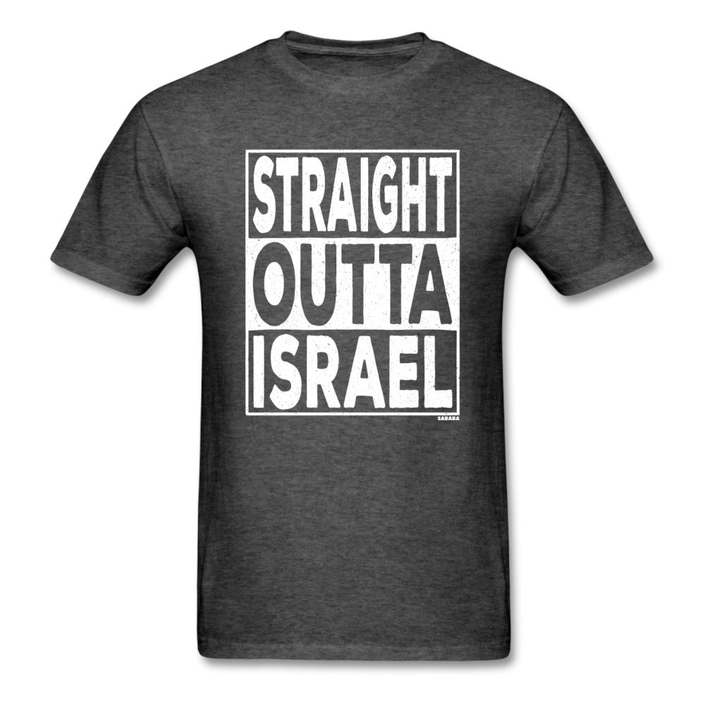Straight Outta Israel Unisex T-Shirt - heather black