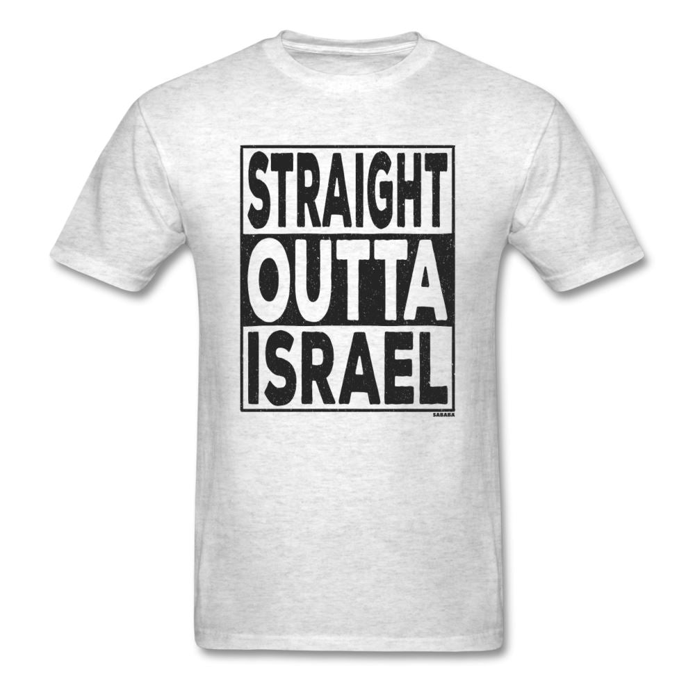 Straight Outta Israel Unisex T-Shirt - light heather gray