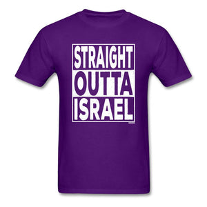 Straight Outta Israel Unisex T-Shirt - purple