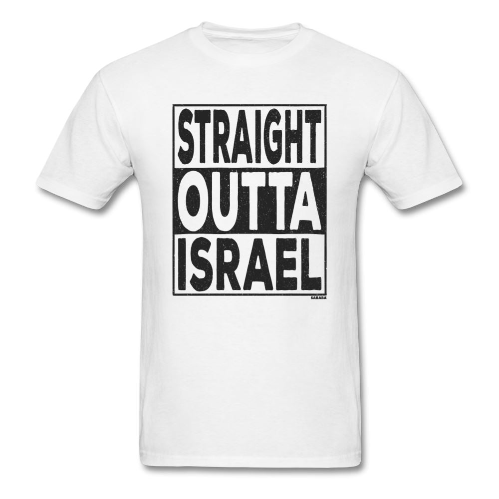 Straight Outta Israel Unisex T-Shirt - white