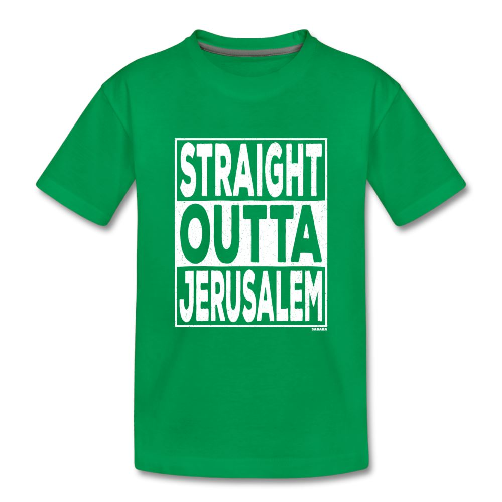 Straight Outta Jerusalem Kids' Premium T-Shirt - kelly green