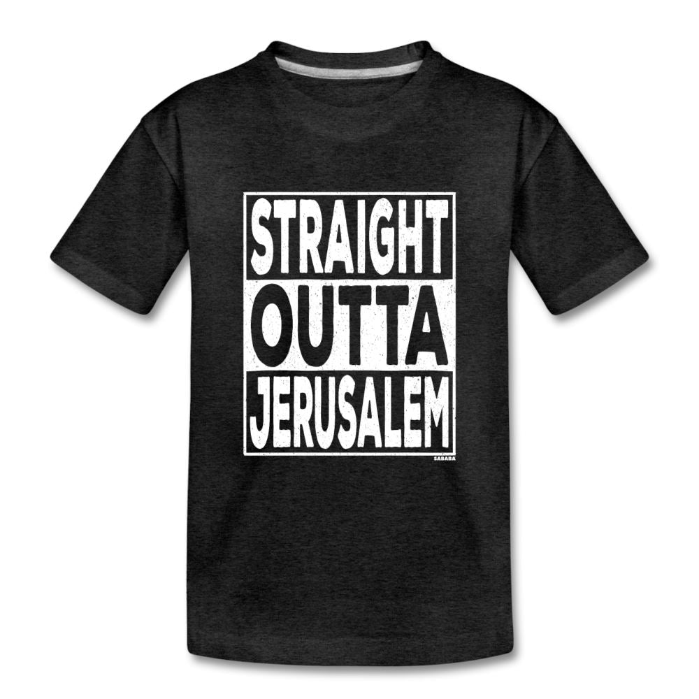 Straight Outta Jerusalem Kids' Premium T-Shirt - charcoal gray