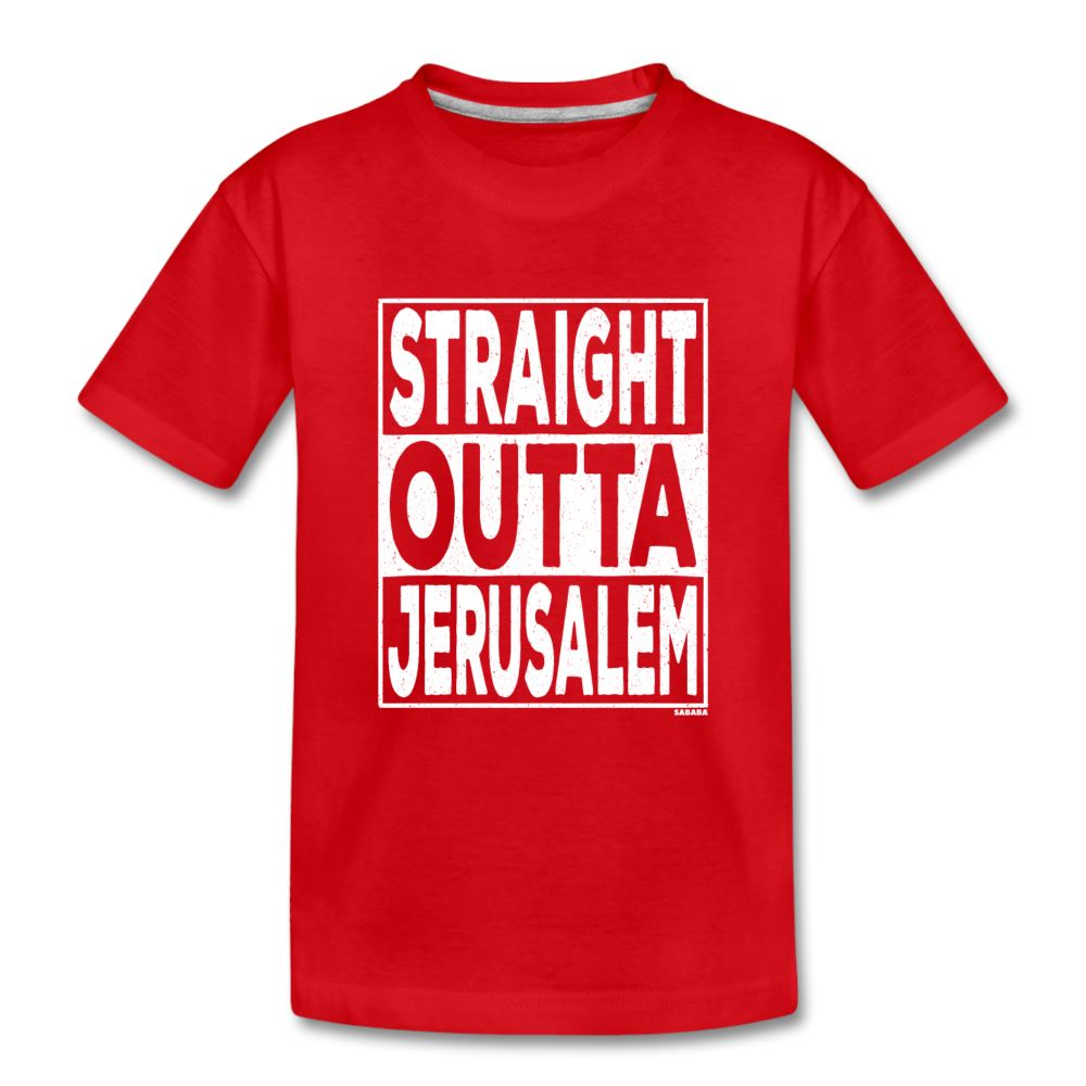 Straight Outta Jerusalem Kids' Premium T-Shirt - red