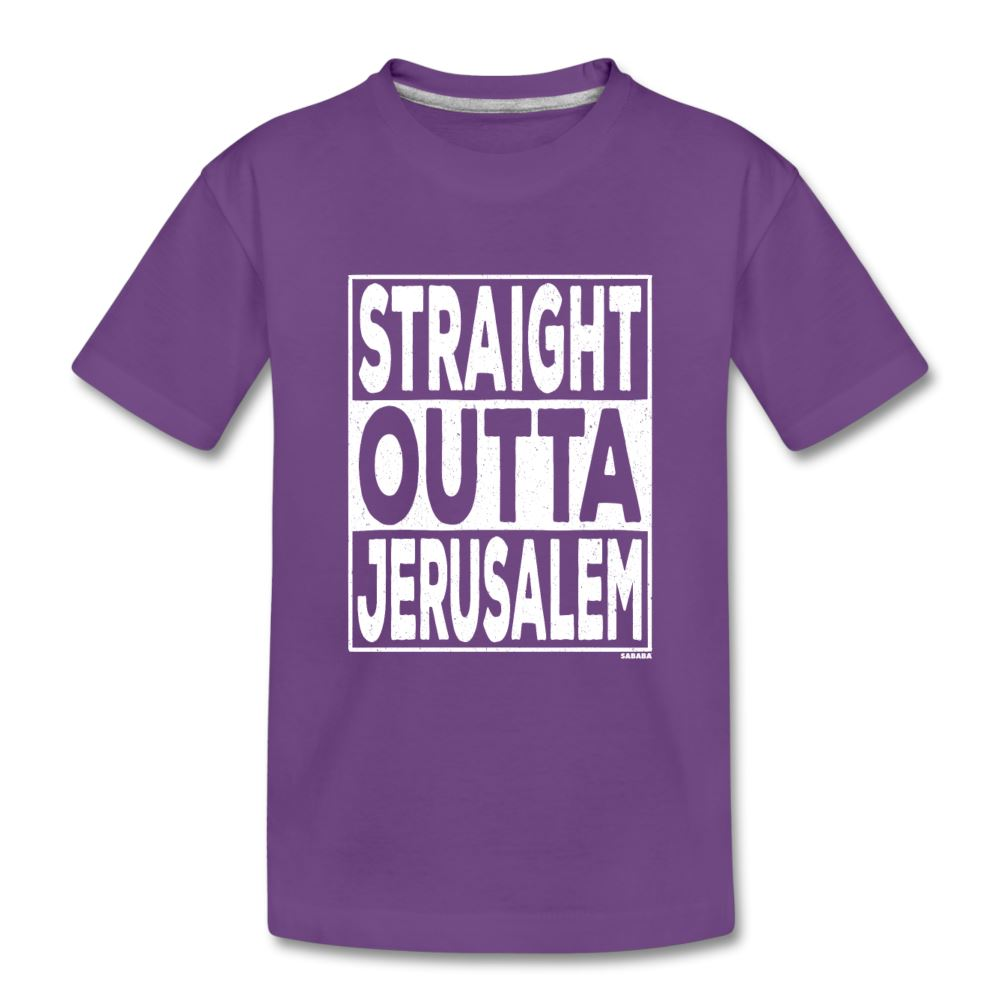 Straight Outta Jerusalem Kids' Premium T-Shirt - purple