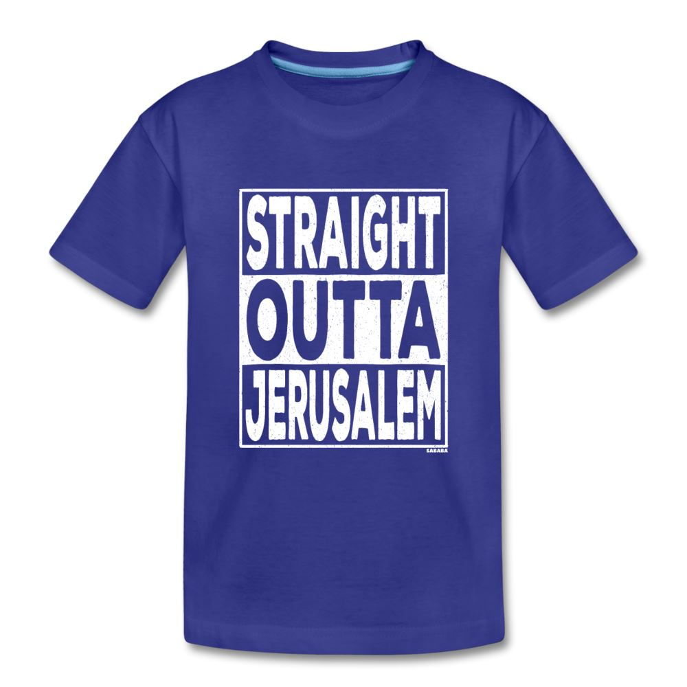 Straight Outta Jerusalem Kids' Premium T-Shirt - royal blue