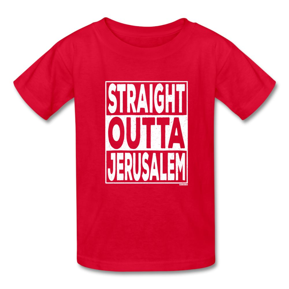 Straight Outta Jerusalem Kids' T-Shirt - red