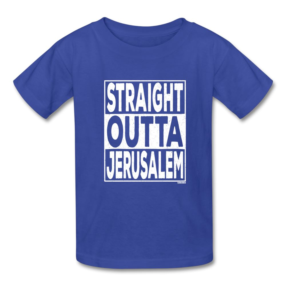 Straight Outta Jerusalem Kids' T-Shirt - royal blue