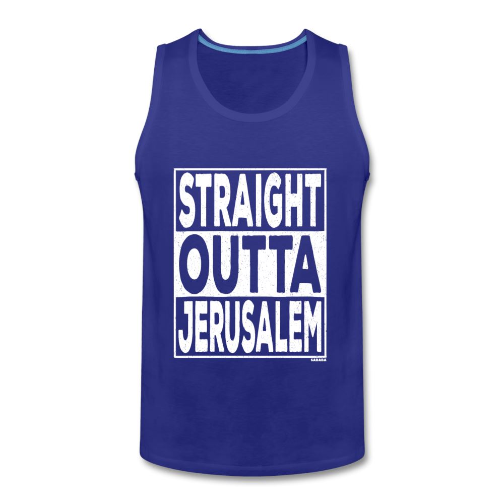 Straight Outta Jerusalem Men's Tank - royal blue