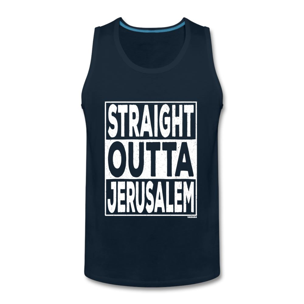 Straight Outta Jerusalem Men's Tank - deep navy