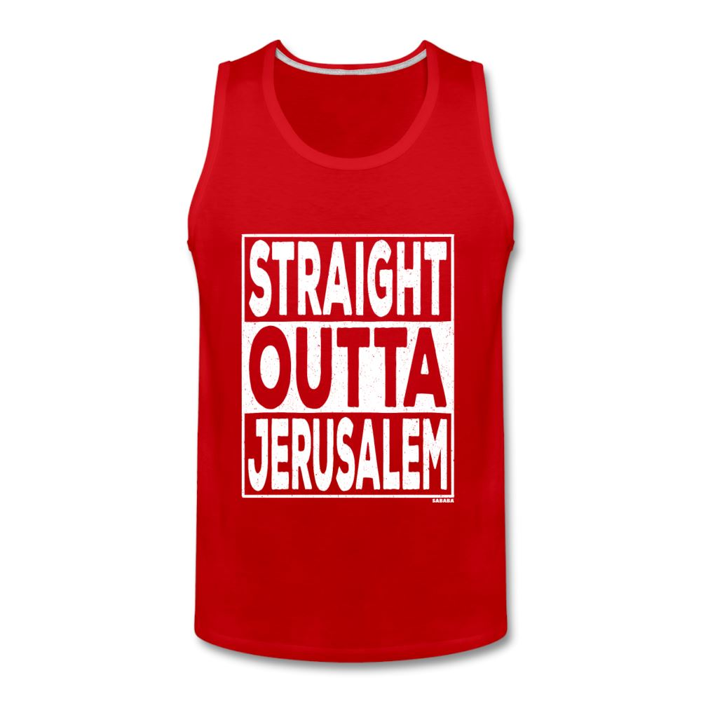 Straight Outta Jerusalem Men's Tank - red