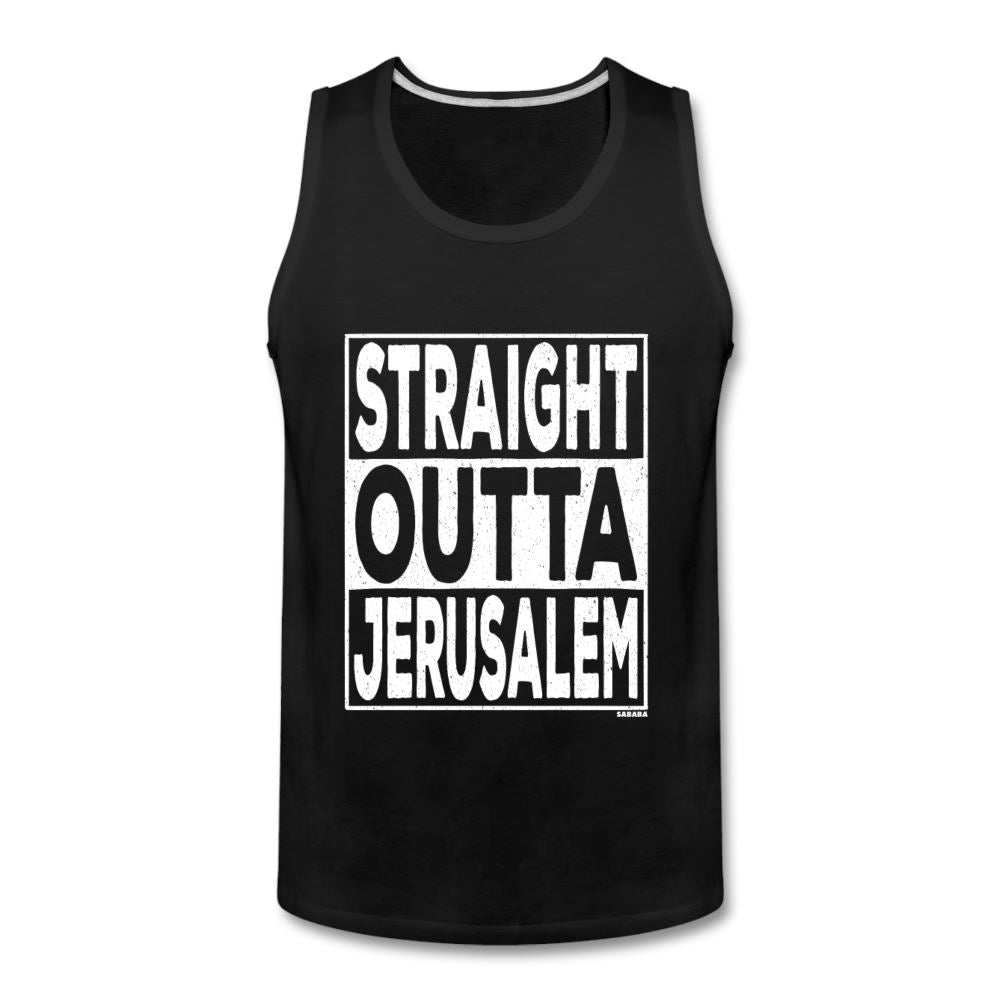Straight Outta Jerusalem Men's Tank - black