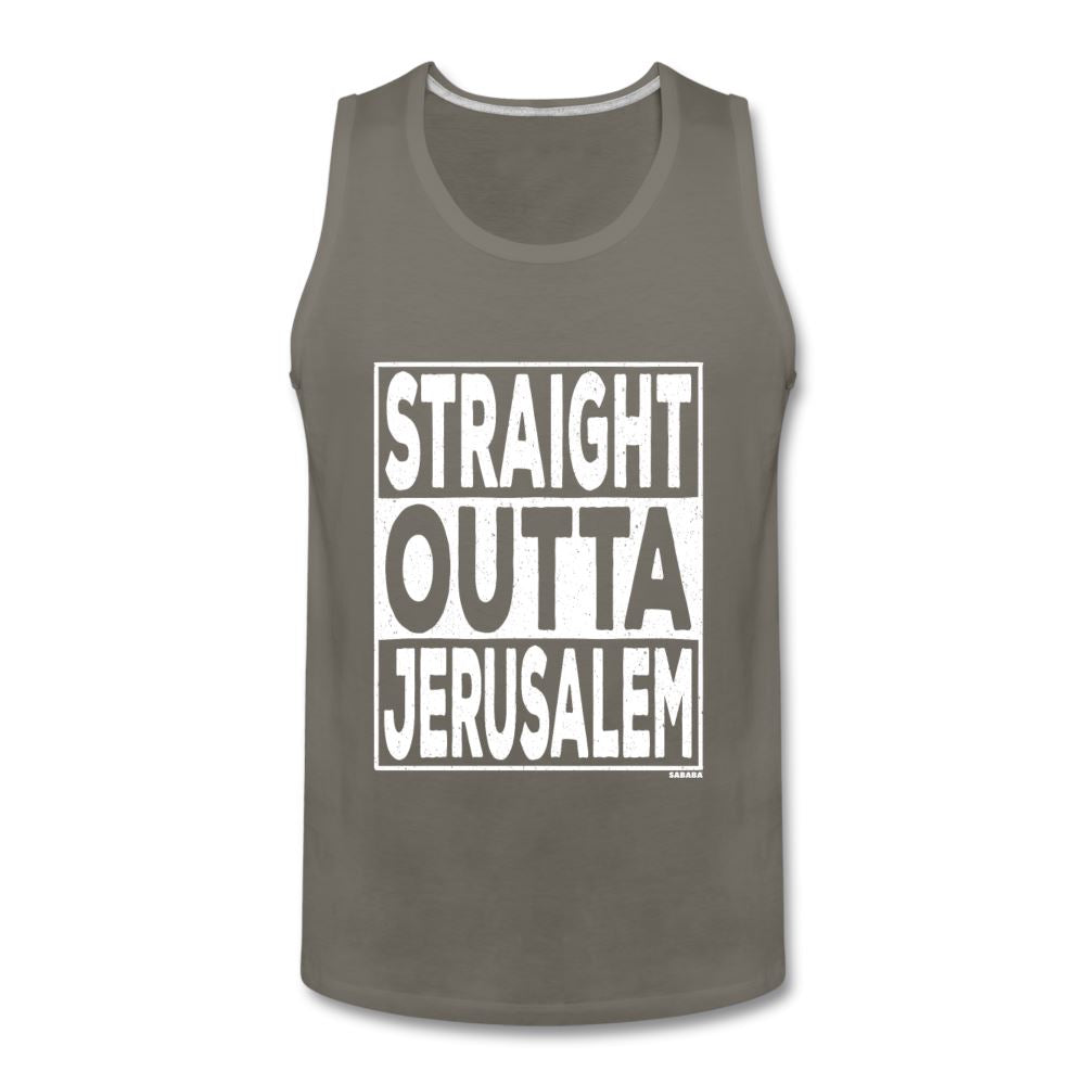 Straight Outta Jerusalem Men's Tank - asphalt gray