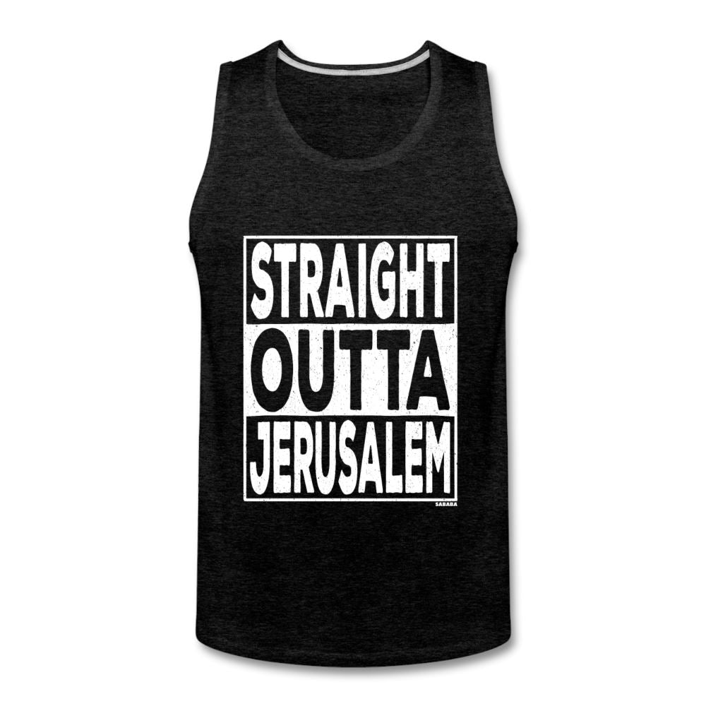 Straight Outta Jerusalem Men's Tank - charcoal gray